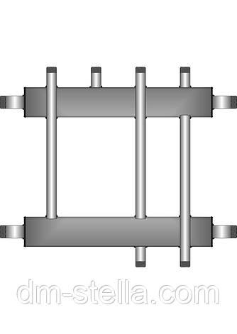 Коллекторная балка 2 контура вверх (вниз) 1 контур вниз (вверх) до 60 кВт, фото 2