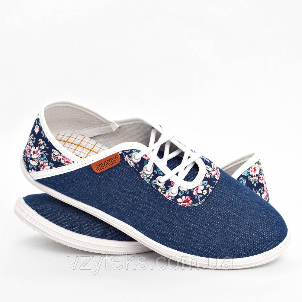 0ea62b010 Купить Мокасины женские на шнурках джинсовые оптом Украина Гипанис ...