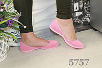 Балетки летние женские розовые