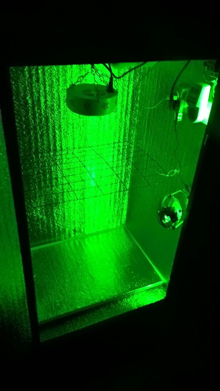 Гроубокс лед 100вт с ночной подсветкой и устранением запахов