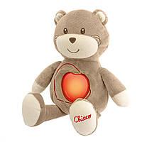 Ночник игрушка мишка развивающая мягкая Chicco 60049