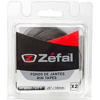 "Лента на обод Zefal 28""/18мм, 2шт комплект, 116PSI серая"