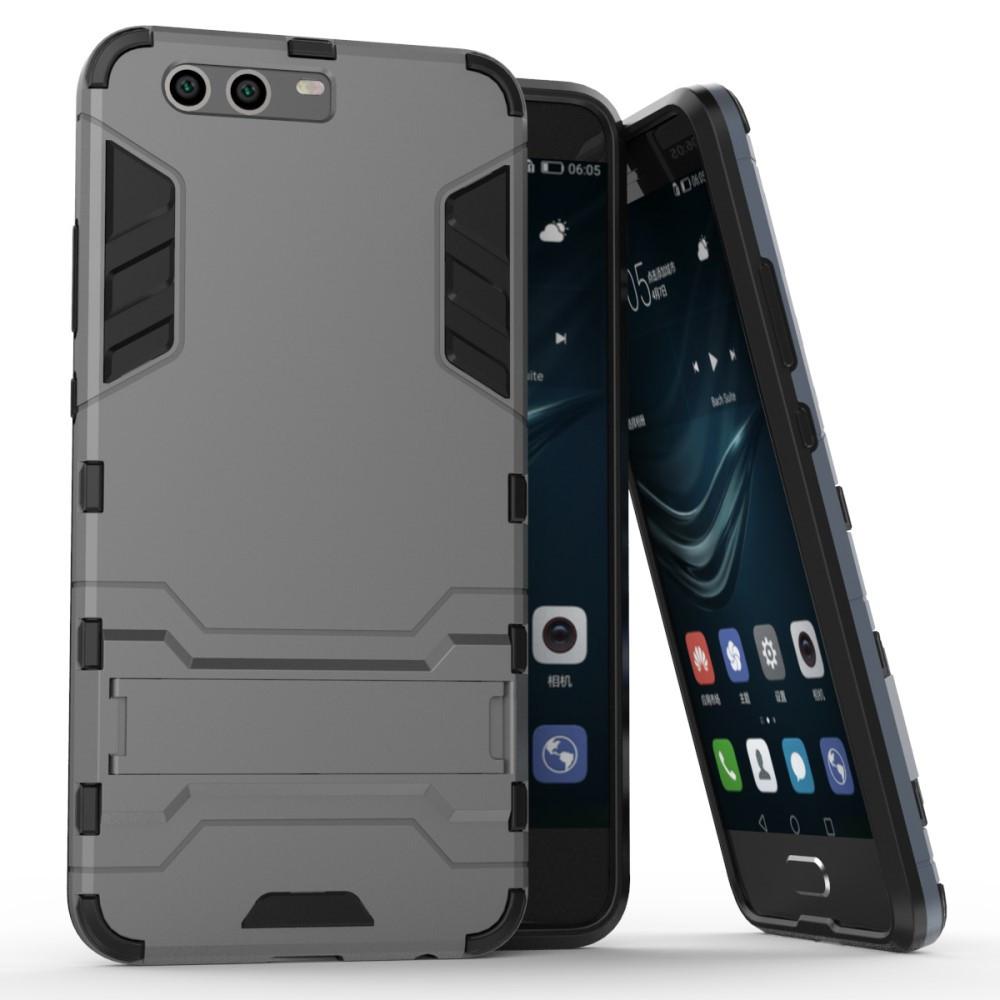 Чехол накладка для Huawei P10 Plus противоударный силиконовый с пластиком, Alien, серый