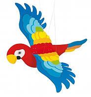 Мобайл Goki деревянный Попугай, деревянный мобиль, GK454