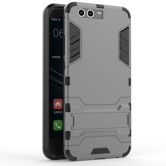 чехол накладка на Huawei P10 plus противоударный серый