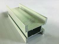 Профиль алюминиевый для раздвижных дверей, цвет белый 9003