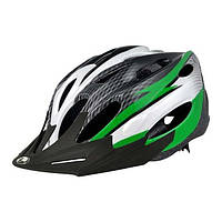 Шлем Longus MAXVENT черный/белый/зеленый S/M