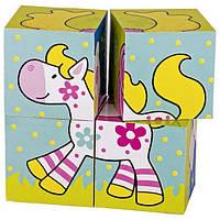Goki Кубики деревянные Мои друзья Susibelle 57511, Детские игровые кубики