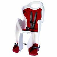 Сиденье заднее Bellelli MR FOX Relax B-Fix до 22кг, белое с красной подкладкой