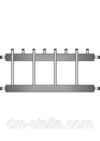 Коллекторная балка 4 контура вверх (вниз) до 60 кВт, фото 2