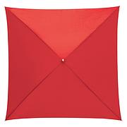 Зонт трость QUATRO квадратный, 1200/800см, Красный