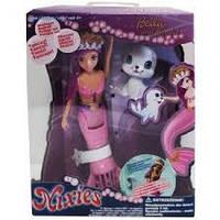 Танцующая плавающая кукла  русалочка Белла с питомцем