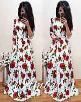 Красивое женское платье в цветочном принте y-t8032713