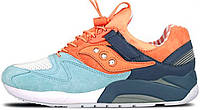 Женские кроссовки Premier x Saucony GRID 9000 Street Sweets Blue/Orange