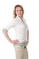 Женская блузка с вырезом Cop Copin, фото 1