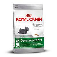 ROYAL CANIN MINI DERMACOMFORT (МИНИ ДЕРМАКОМФОРТ ДЛЯ КОЖИ) корм для собак мелких пород 0,8КГ