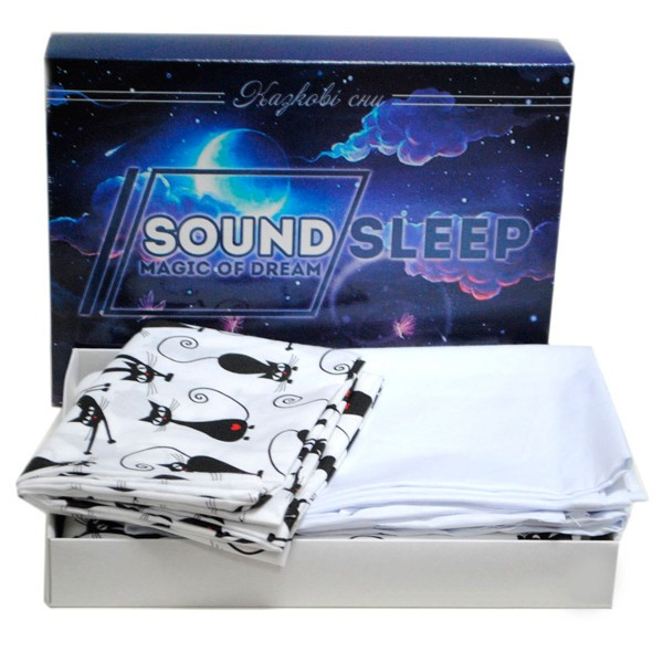 Детский комплект постельного белья SoundSleep 112х147 Cute Kitty белый