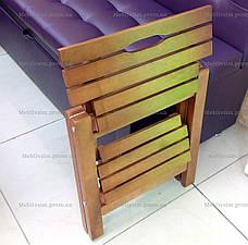 Стремянка деревянная складная Евродом,  цвет белый, фото 3