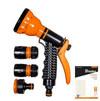 Пистолет для полива Bradas 7 функций с комплектом арматуры
