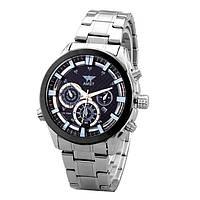 Часы мужские наручные AMST Hamilton+фирменная коробка в подарок silver-black-black