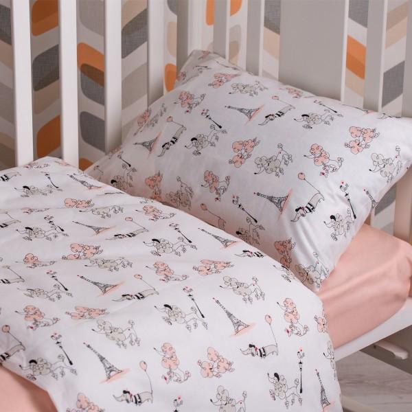 Детский комплект постельного белья SoundSleep 112х147 Fancy Poodle пудра