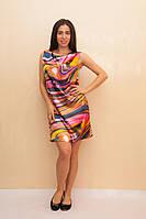 Женское платье из шелка  с узором