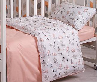 Детский комплект постельного белья SoundSleep 112х147 Fancy Poodle пудра  , фото 2
