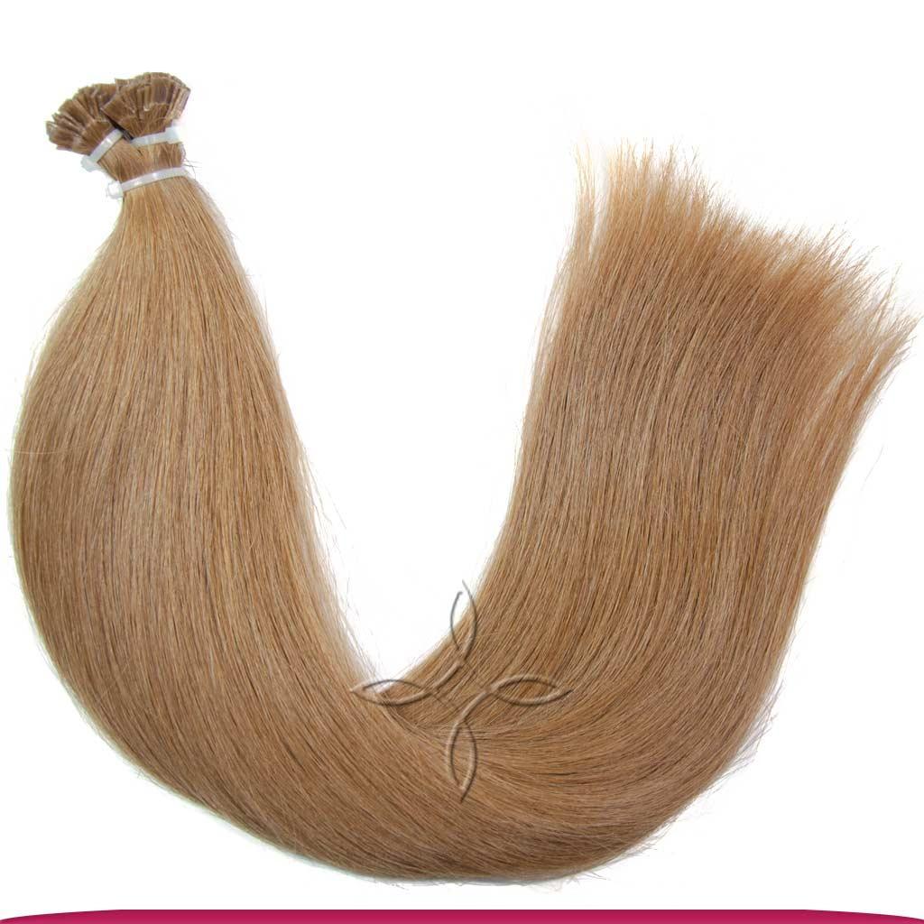 Натуральные Европейские Волосы на Капсулах 50 см 100 грамм, Русый №7A
