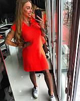 Легкое вязаное женское платье в расцветках d-t18032720