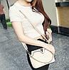Женская сумка через плечо плетенная с цепочкой Белый