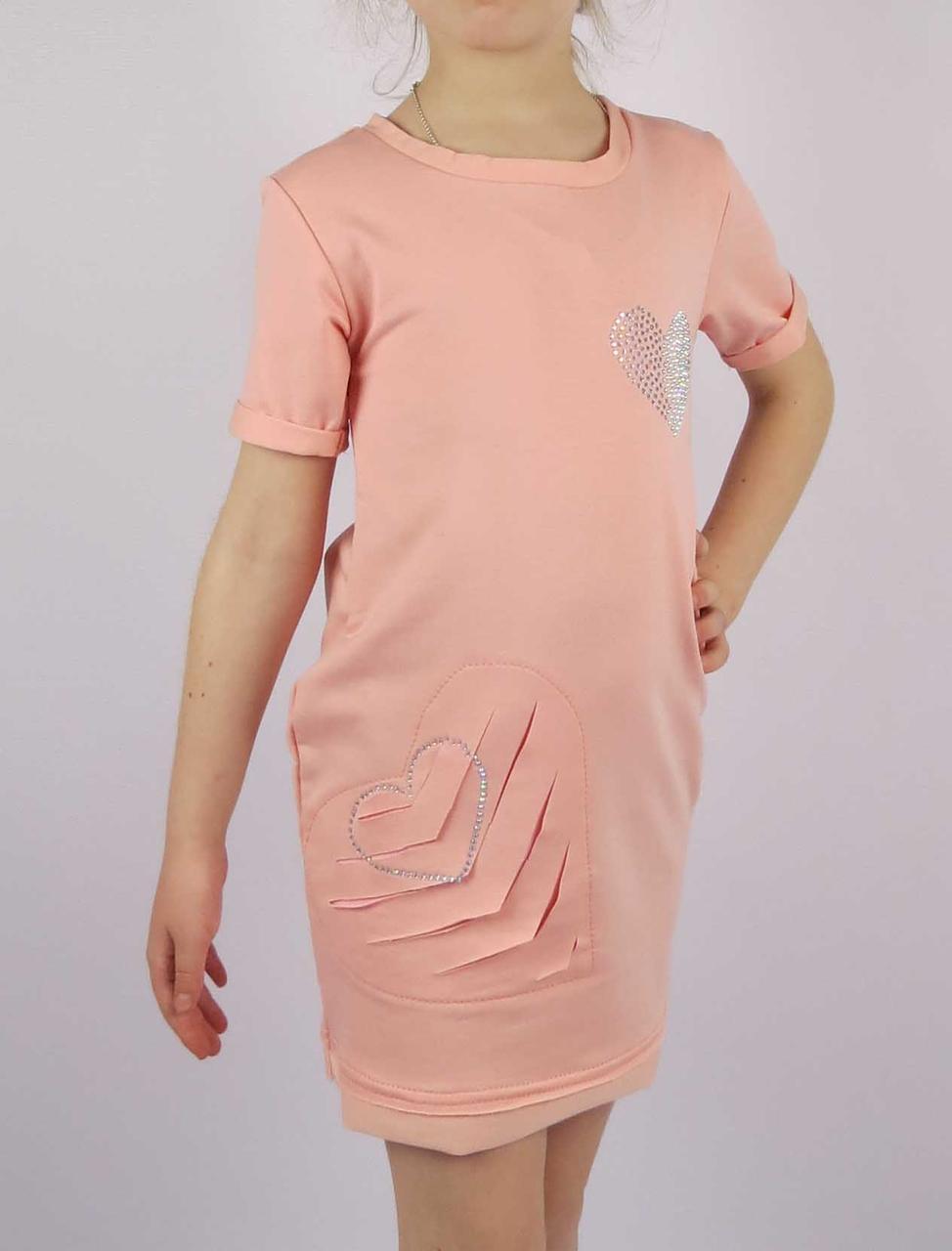 Платье сердце код 609 размеры от 122 см до 140 см (от 6 до 10 лет), фото 2