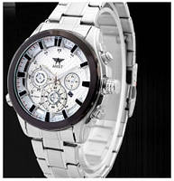Часы мужские наручные AMST Hamilton+фирменная коробка в подарок silver-black-white