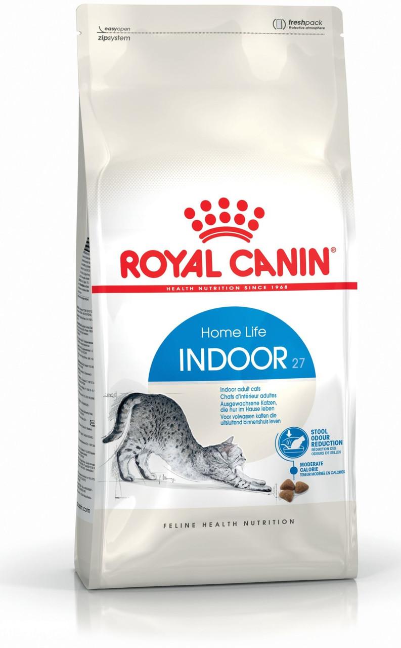 Сухой корм Royal Canin Indoor 27 для взрослых кошек, 4КГ