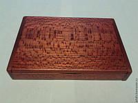 Подставка настольная для визиток из дерева