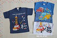 Детская футболка для мальчика Машинки Турция размер 1 год