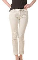 Женские брюки бежевые с рисунком Vangeliza