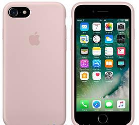 Силиконовый чехол Apple Silicone Case (MMX12FE/A) для Iphone 7 (Ping Sand | Светло-розовый) Original