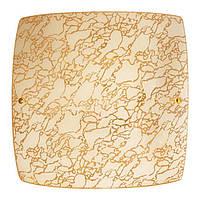 Современный накладной потолочный светильник для гипсокартонных потолков Золотистый 2*60Вт Vesta Light 26192