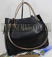 Стильная брендовая черная сумка