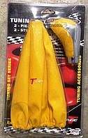 Тюнинг набор 2в1 желтый (чехол кулисы КПП + ручка КПП)