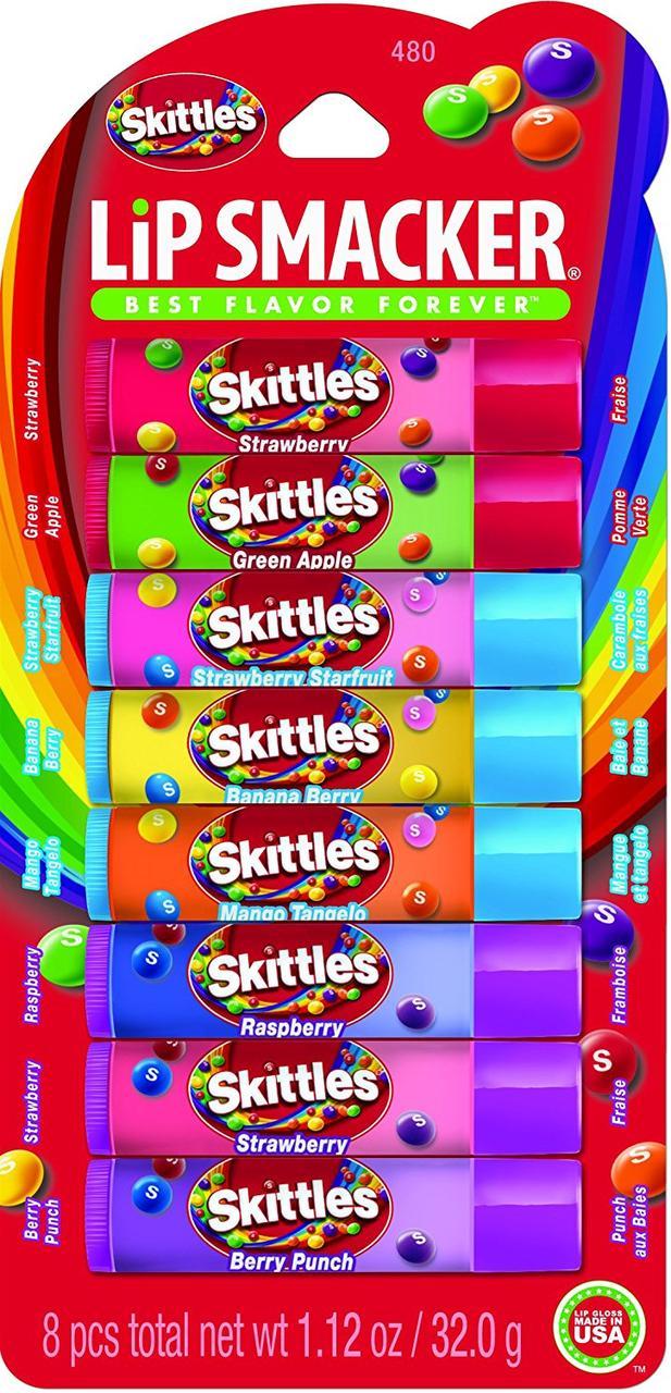Бальзамы для губ Lip Smacker Skittles набор 8 шт