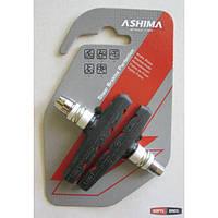 Тормозные колодки ASHIMA Advanced AP66V-H-AL для ободных вело тормозов V-Brake