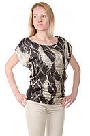 Женская шелковая блуза с рисунком Lafer