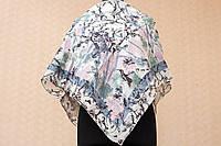 Платок с цветами и колибри