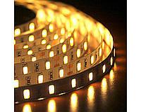 Светодиодная лента 3528 Белая, 5м 300 LED 12B, IP55, Лента светодиодная