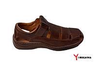 Легендарные сандалии мужские кожаные коричневые