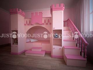Двухъярусная кровать «Золушка 2″ JustWood