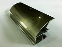 Профиль алюминиевый для раздвижных дверей, цвет шампань