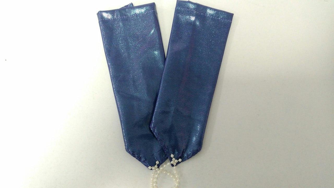 Детские перчатки синие