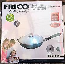 Глубокая сковорода FRICO FRU-148 (керамика) 28 см, 3.6 л., фото 3